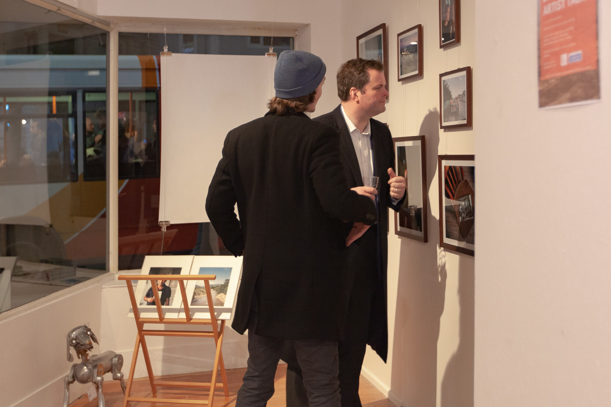 The South West Collective of photography visual storytelling photography exhibition MP for Torbay Kevin Foster and Steffen Junghans