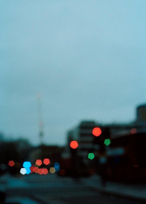 Skaidrė Rudokaitė - Ambivalence blurry lights out of a car window