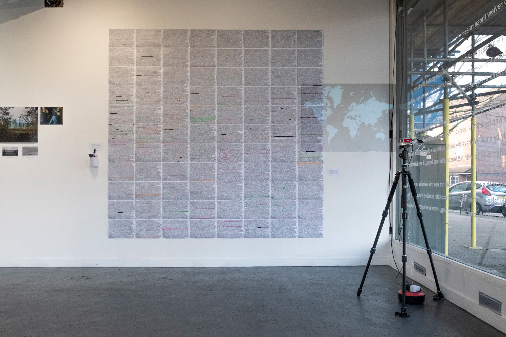 Install shot from RAKE's launch exhibition at AMP Gallery, February-March 2020 the south west collective of photography