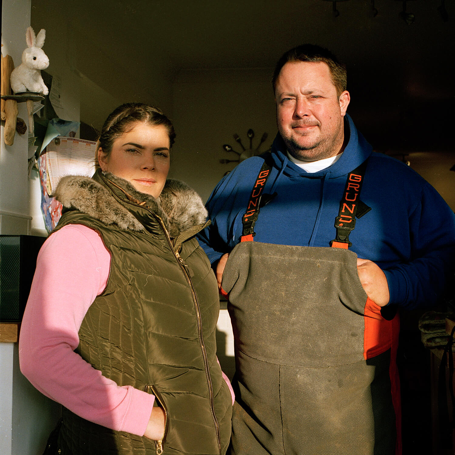 Eva Watkins - Old Salt the south west collective of photography portrait of couple in kitchen