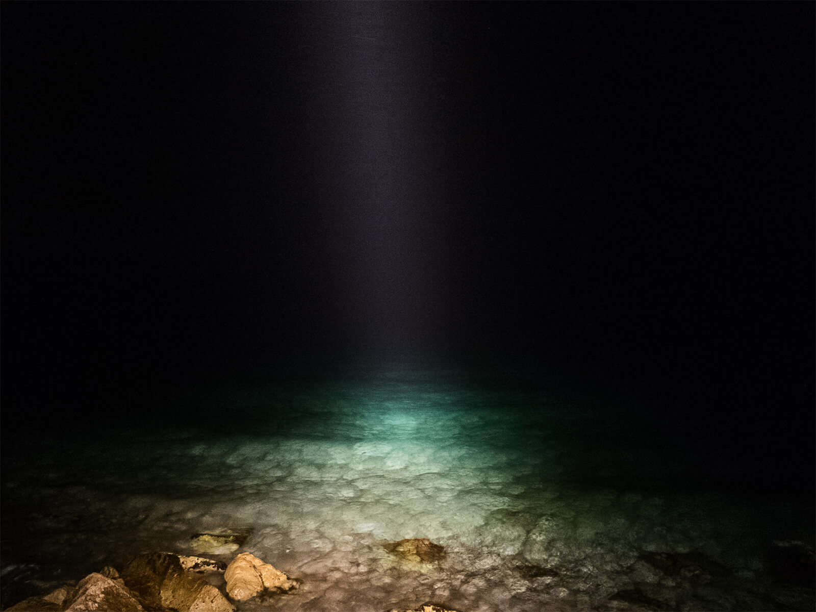 Anargyros Drolapas – Lernaean Hydra the south west collective of photography torchlight on the ocean