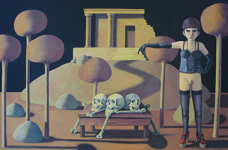 Massimiliano Esposito - Paintings the south west collective of photography skulls on the floor outside tomb