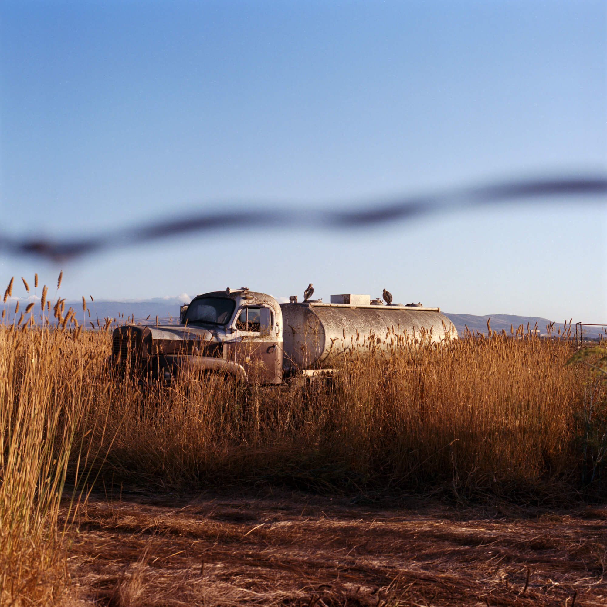 Phoebe Somerfield - Grapefruit Boulevard the south west collective of photography gas truck in field in America