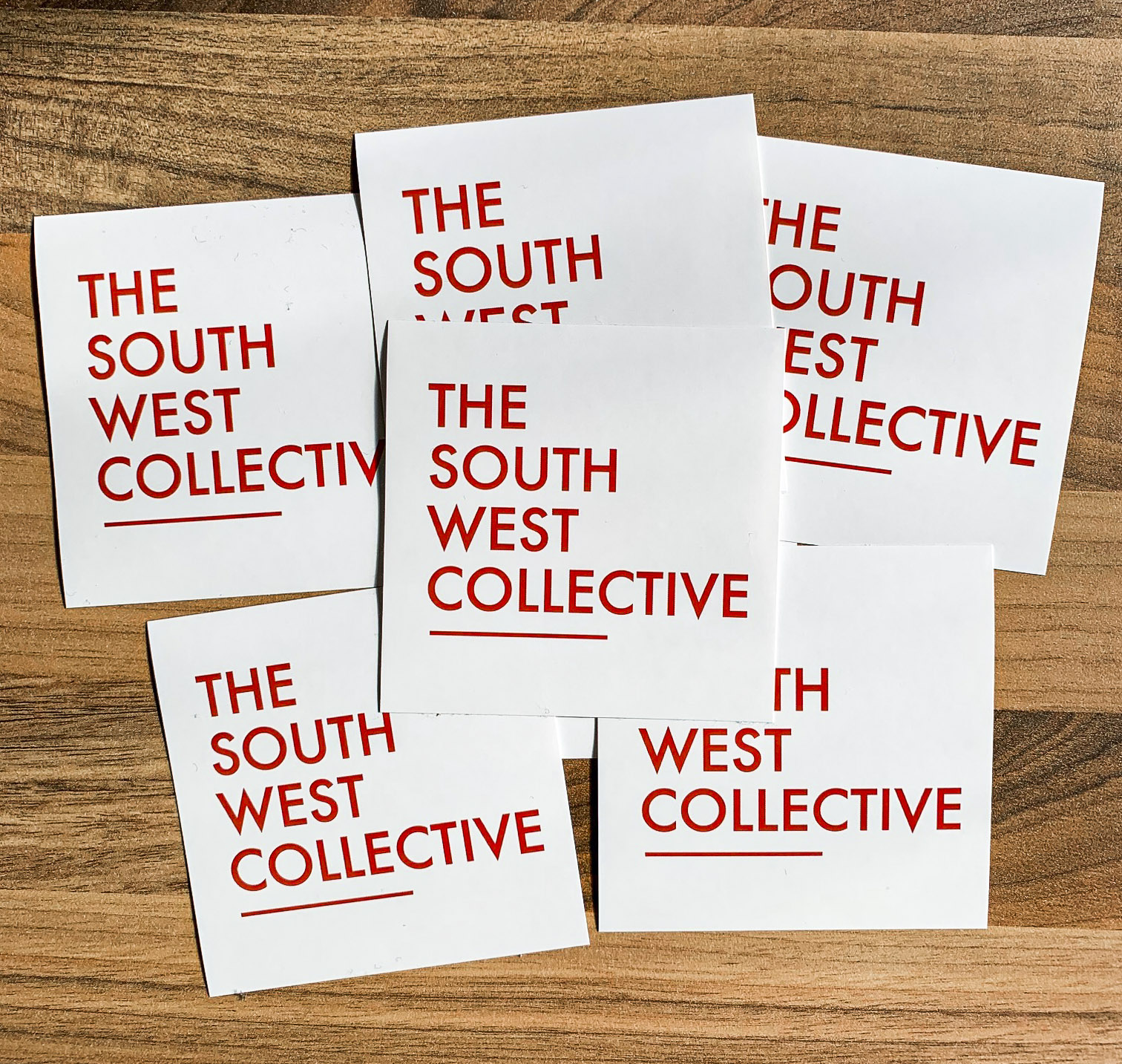 The South West Collective 2020 OG Logo Sticker (White 6 Pack)