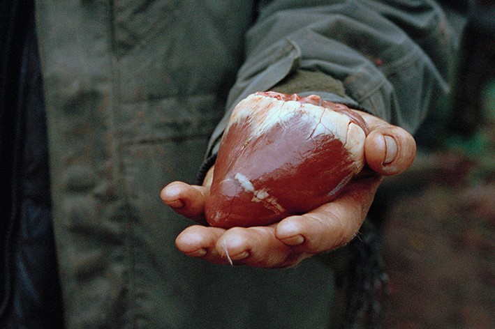 Philippa Klaiber - Vorest the south west collective of photography man holding a heart of some kind