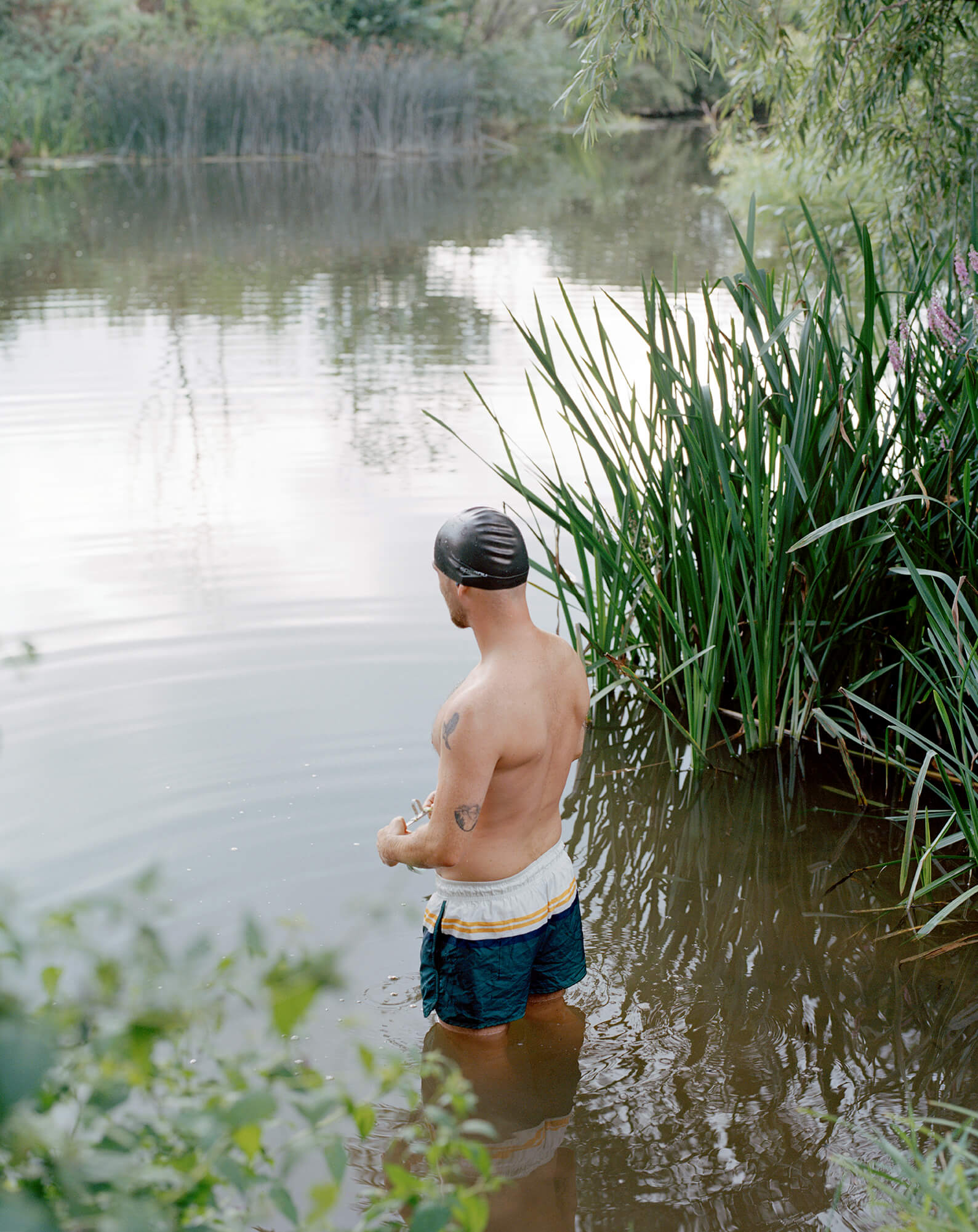 Elliot Cole - A Hull to Hold the Waves at Bay the south west collective of photography man stood in river