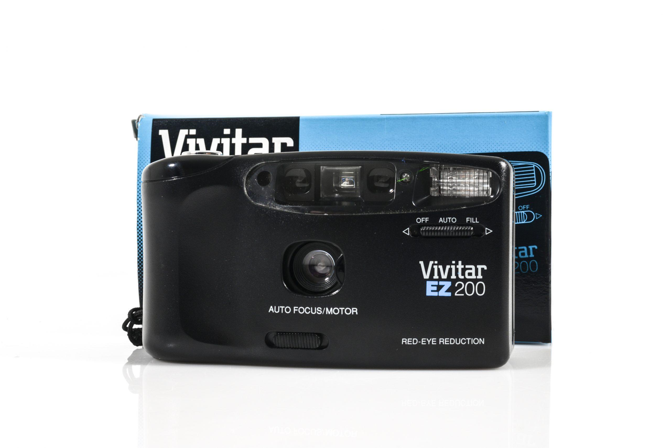 Like NEW Vivitar EZ 200 Point & Shoot 35mm Film Camera with Original Box