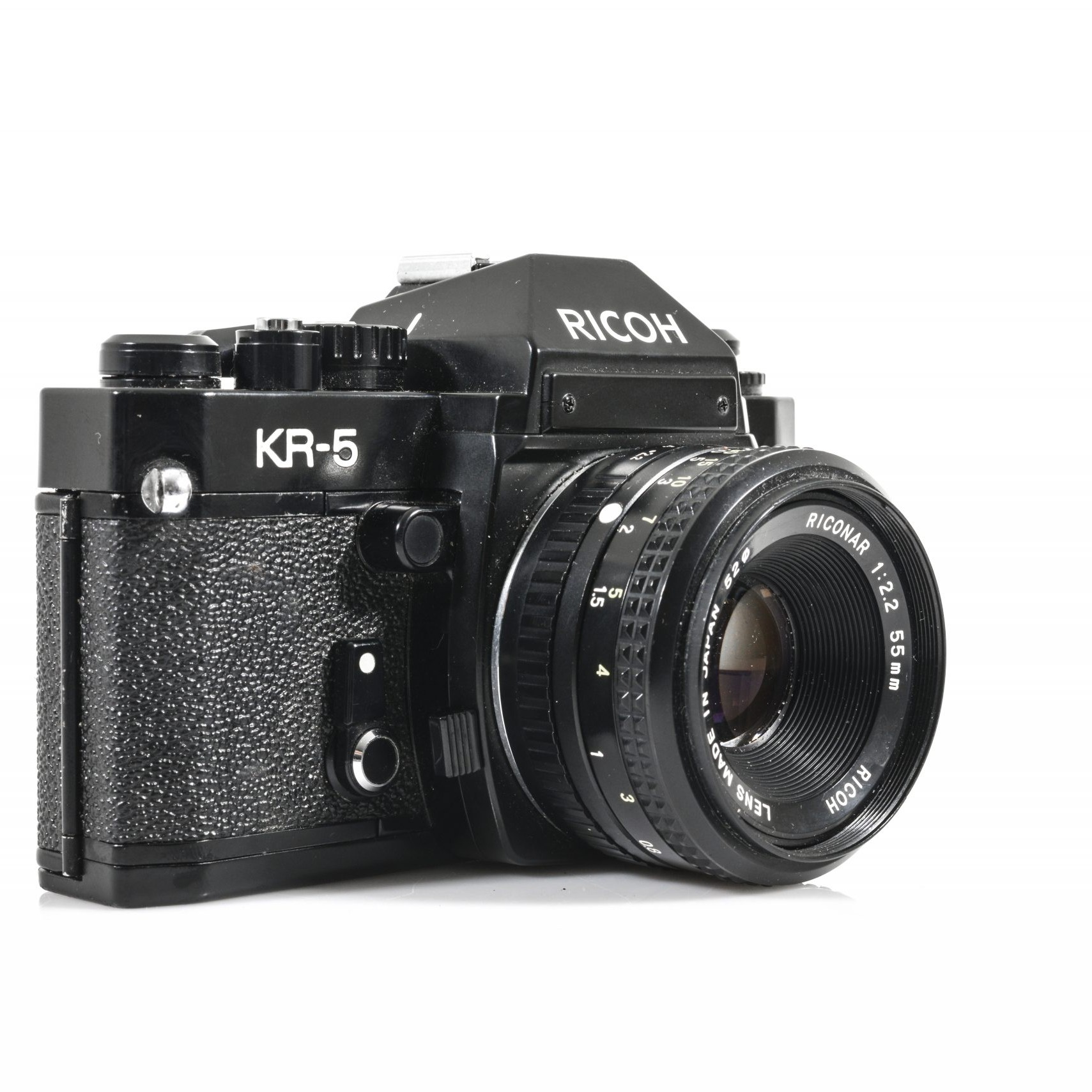 Ricoh KR5 35mm Camera with Riconar F2.2 55mm Lens the south west collective of photography ltd