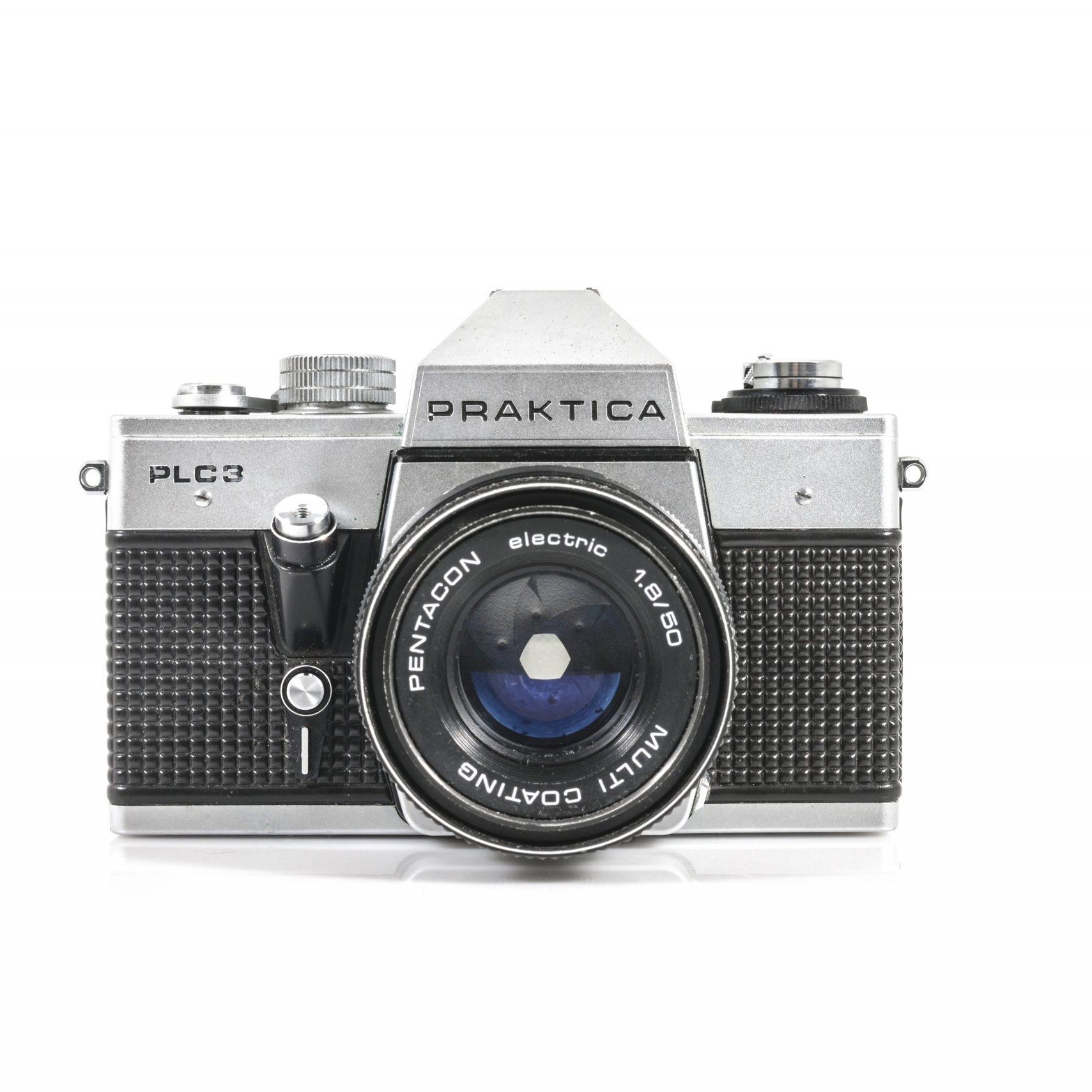 Praktica PLC3 35mm Film Camera with Pentacon 50mm F1.8 Lens (Tested and Working)
