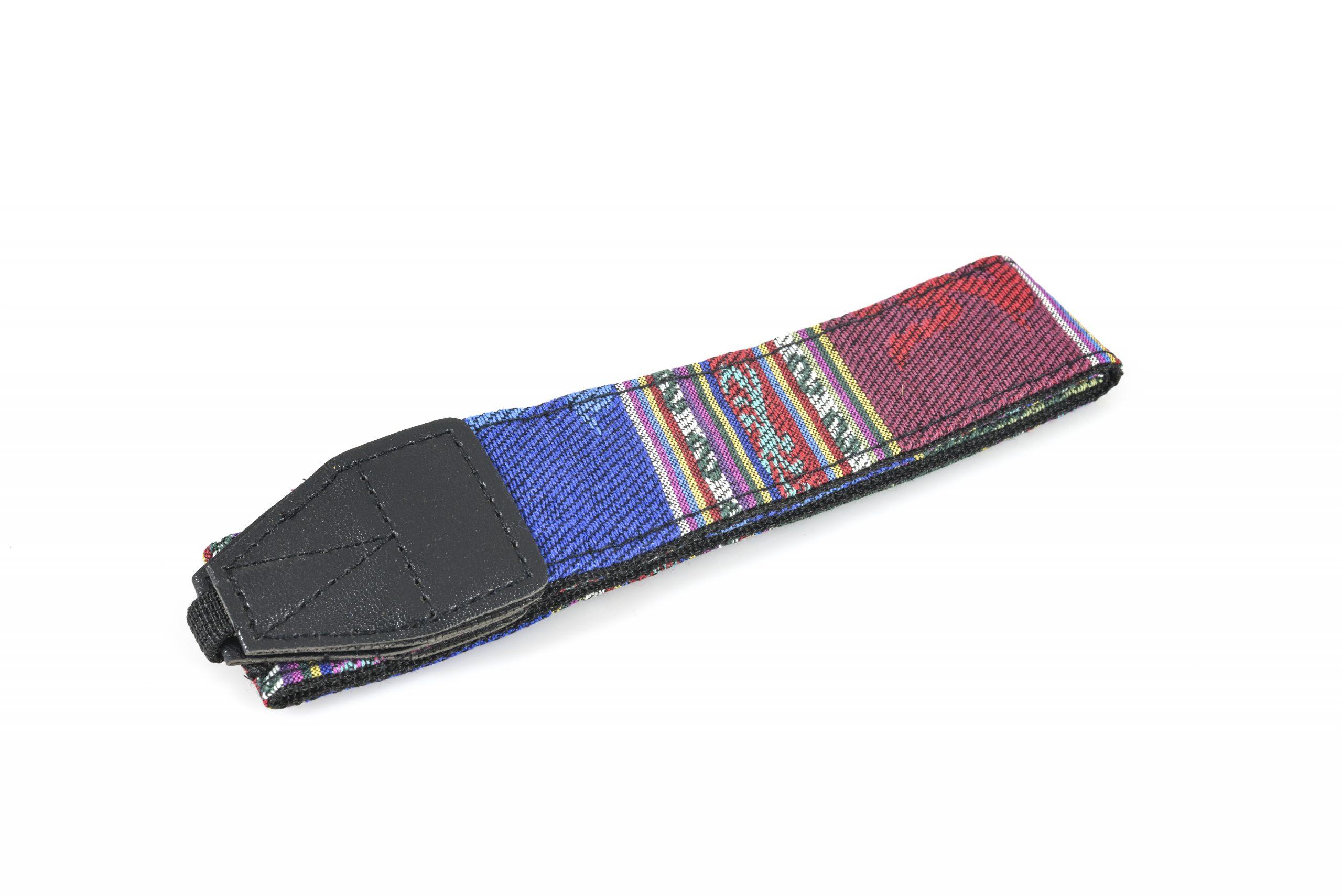 Vintage Coloured Camera Strap for Canon, Sony, Nikon Cameras etc (Blue Stripe)