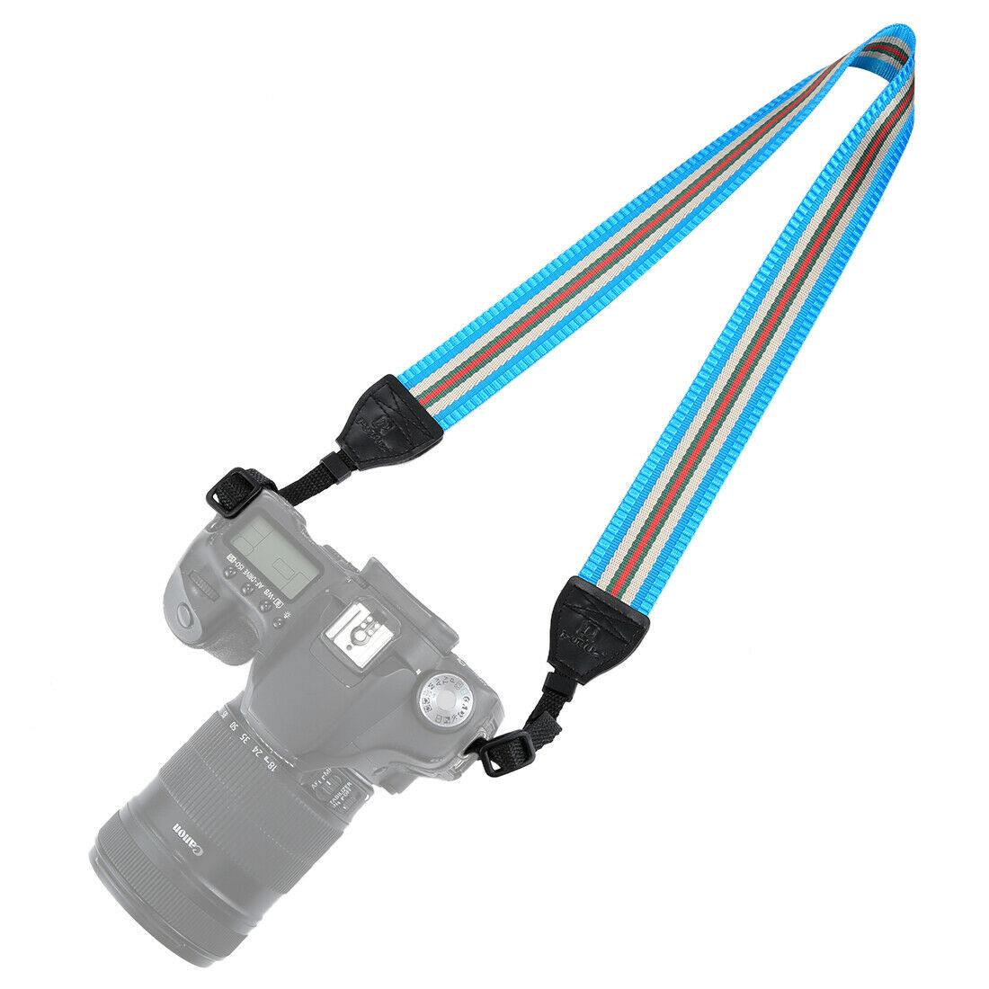 Vintage Anti-Slip Camera Strap - Light Blue