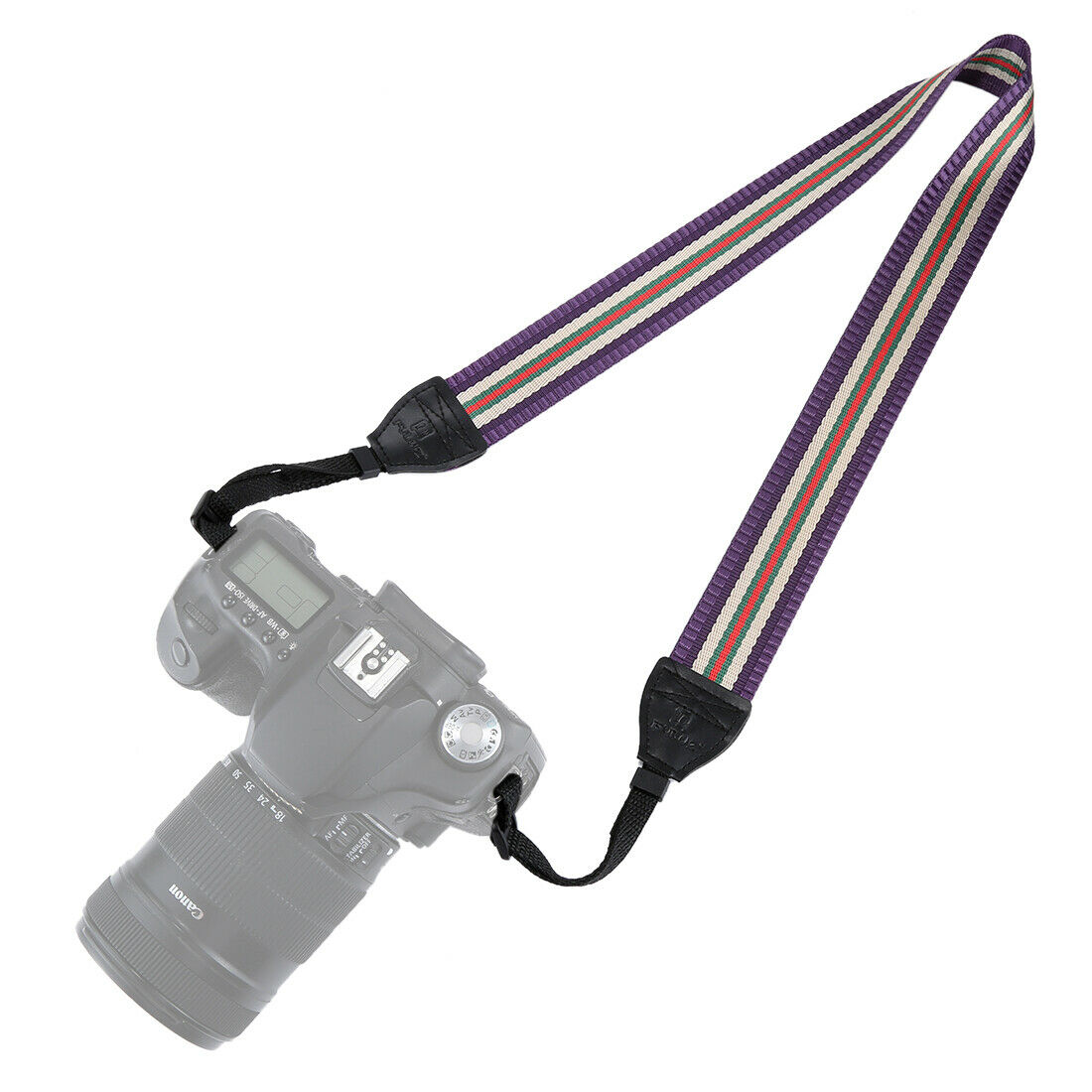 Vintage Anti-Slip Camera Strap - Purple