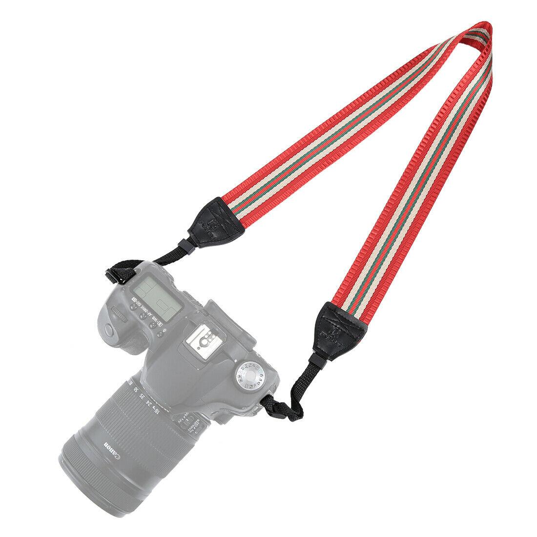 Vintage Anti-Slip Camera Strap - RED