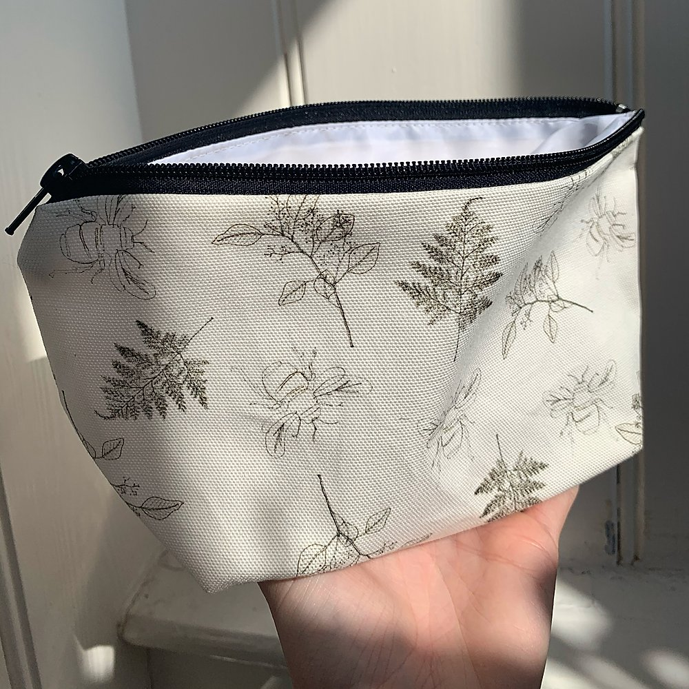 The Lucy Saunders Collection: Make Up/ Wash Bag the South West Collective