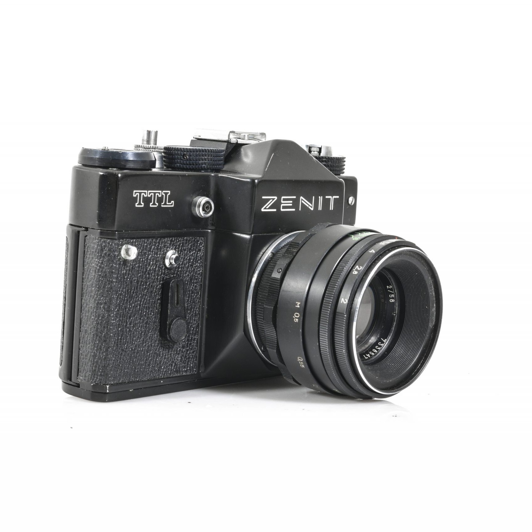 Zenit TTL 35mm Film Camera with Helios 2/58 44-2 Lens (Tested and Working)