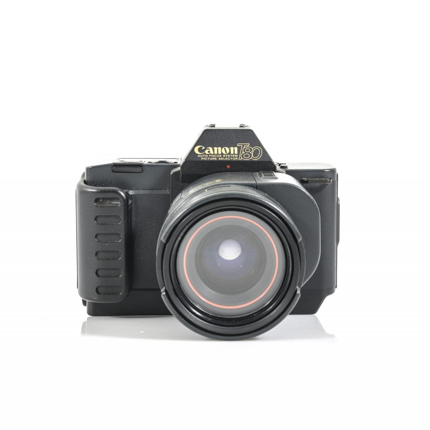 Canon T80 35mm Film SLR Camera + FD AC 35-70mm F/3.5-4.5 Zoom Auto Focus Lens