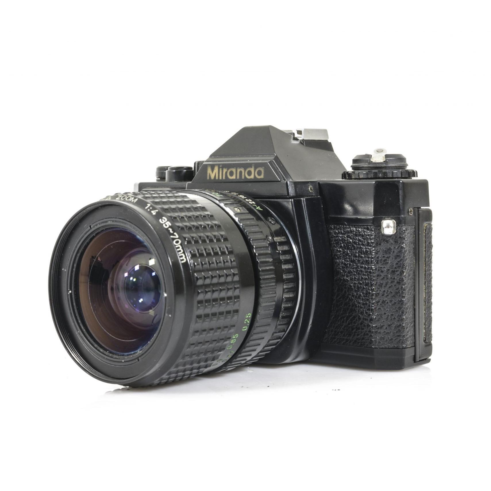 Miranda MS-1 35mm Film SLR Camera with RARE SMC Pentax A 35-70mm Zoom Lens