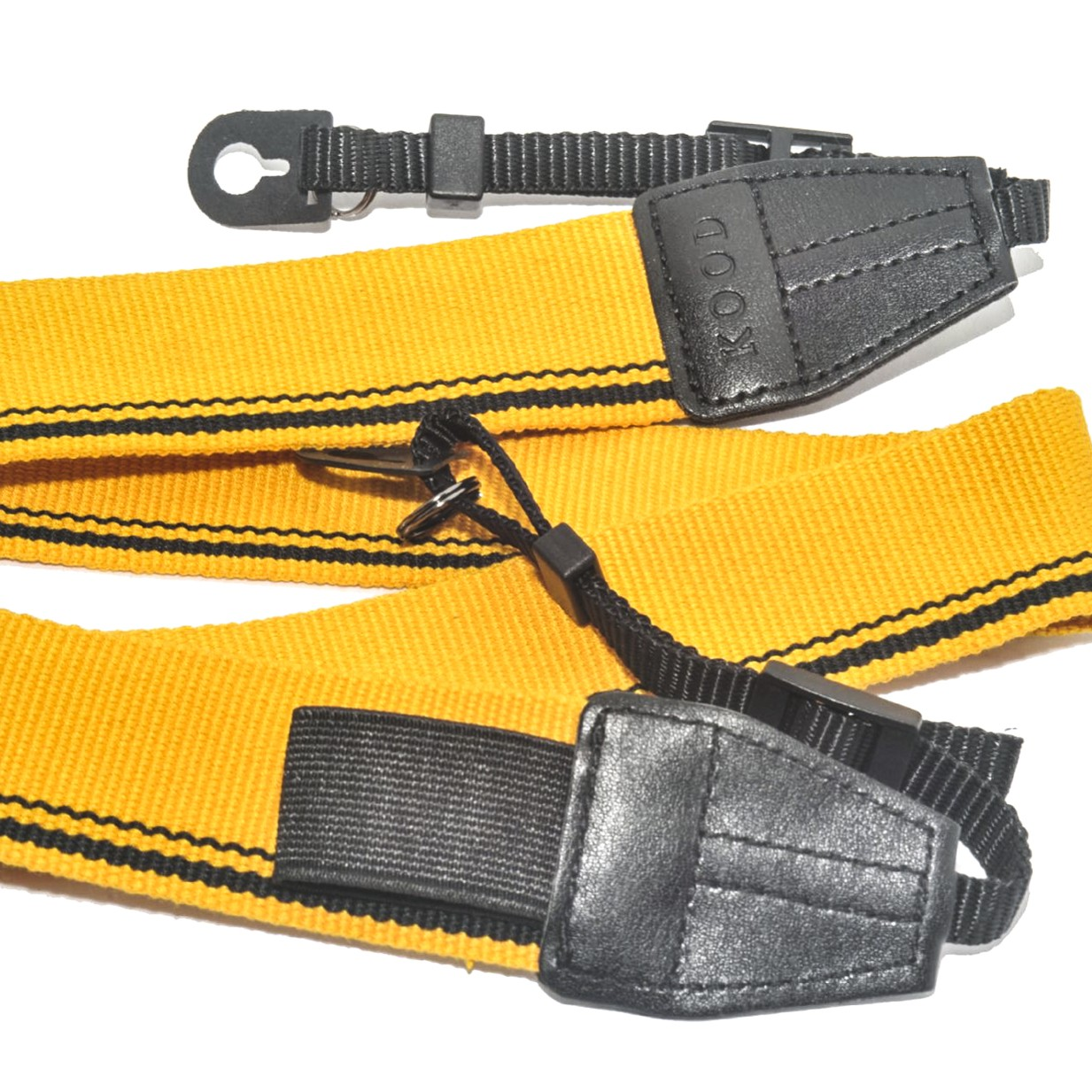 Kood High Quality Retro Style DSLR Camera Neck / Shoulder Strap Yellow & Black