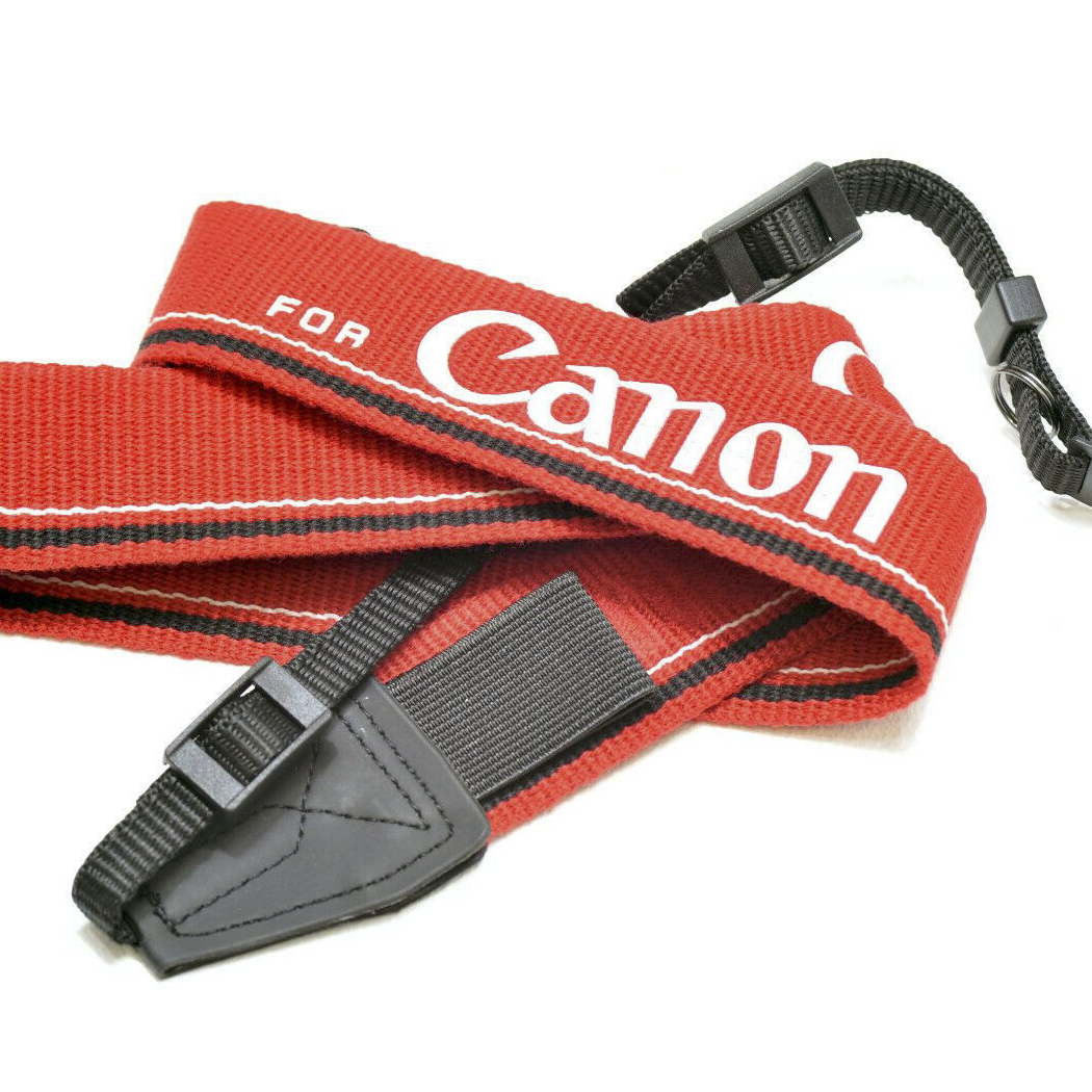 Kood Vintage Style DSLR Camera Strap for Canon in Red