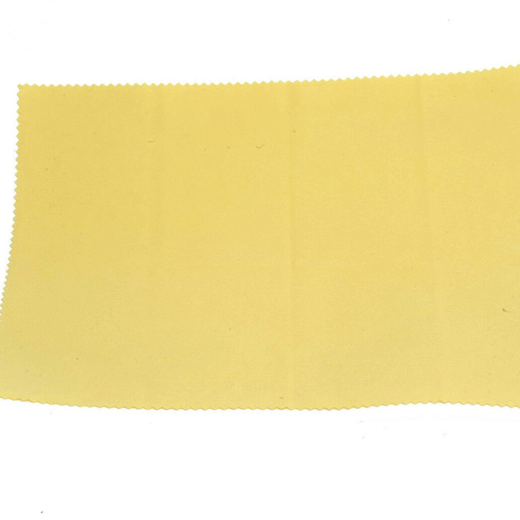 High Quality Large Microfibre Optical Cleaning Cloth 24x20cm Yellow