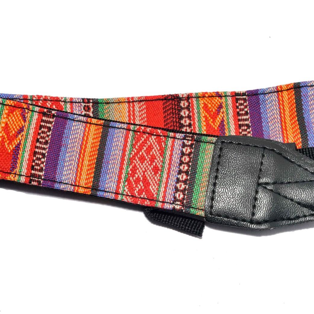 Multicoloured Vintage Style Camera Strap