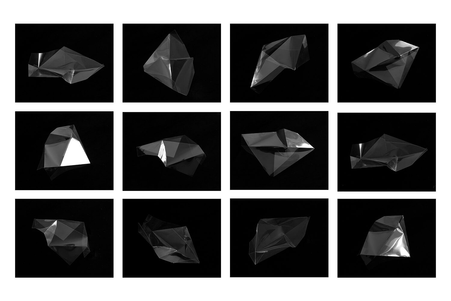 Lydia Shearsmith - The Edge of Nowhere angles of shapes on black background