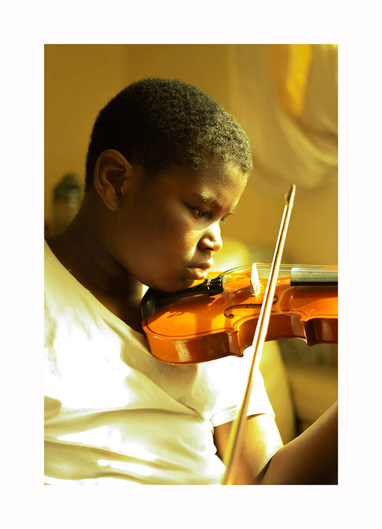 Kofo Olayanju - What Will Become of Us Portrait of boy playing violin