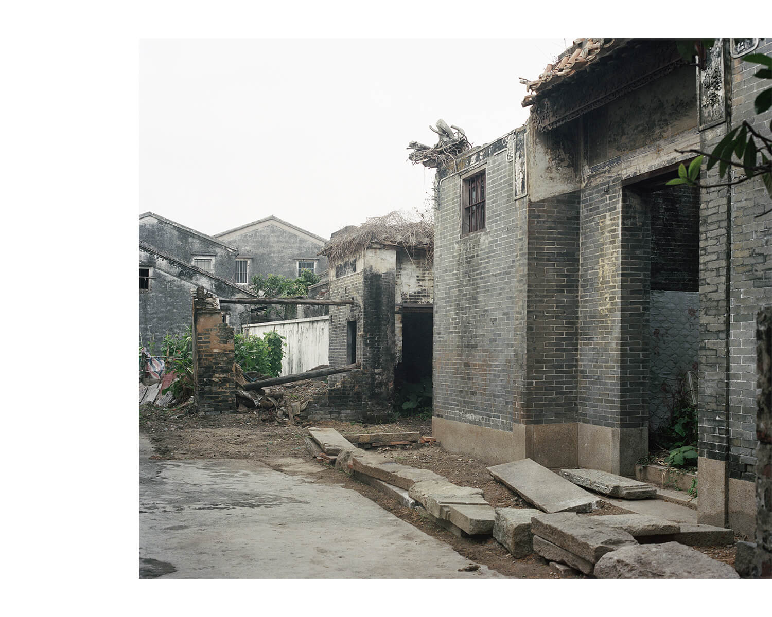 Tony Mak - To The West Of The Solitary Sea. Neglected brick structures