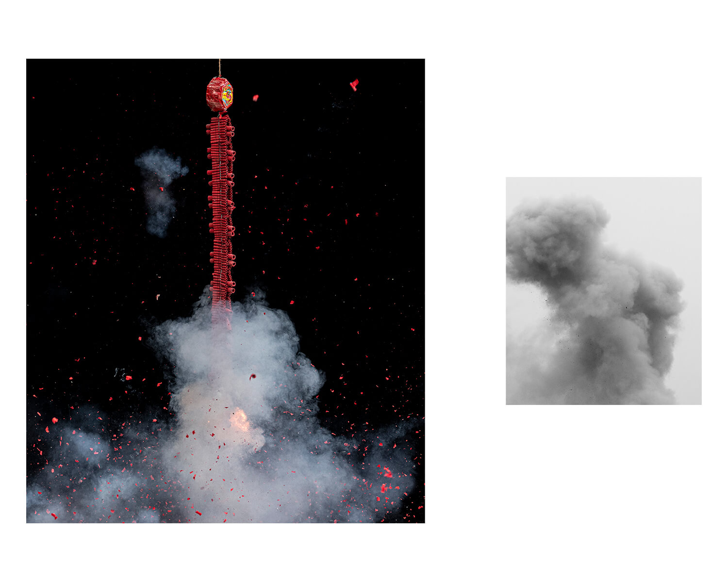 Tony Mak - To The West Of The Solitary Sea. Chinese celebrations and smoke