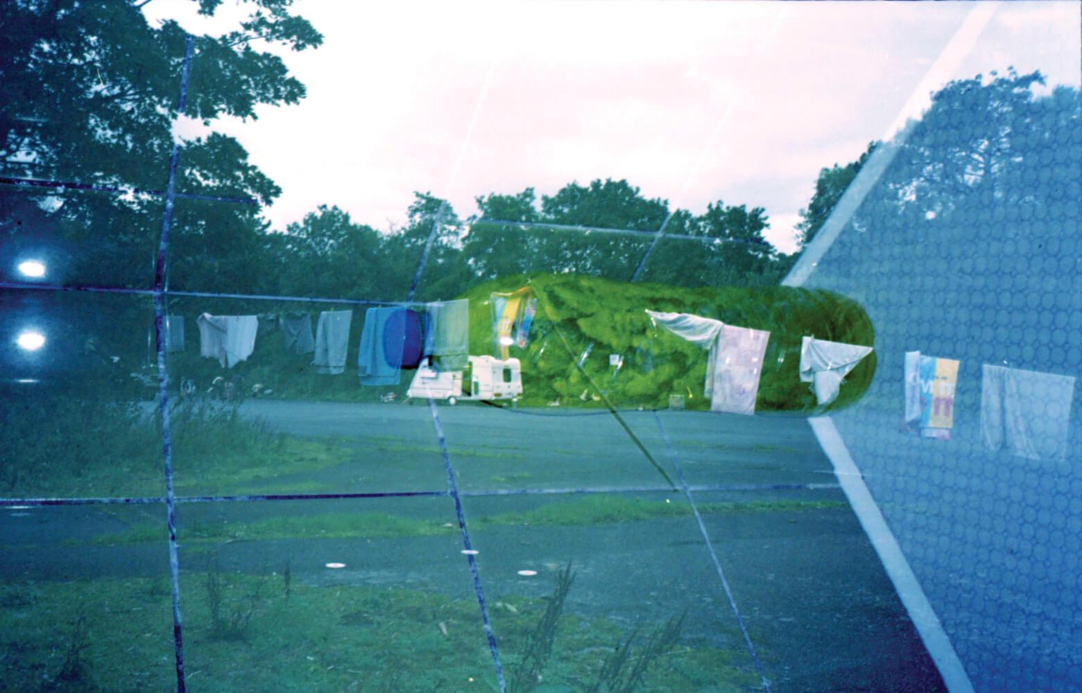 Tiana Ferguson - Fool Me Once, Fool You Twice. Outdoor scene and blue colours