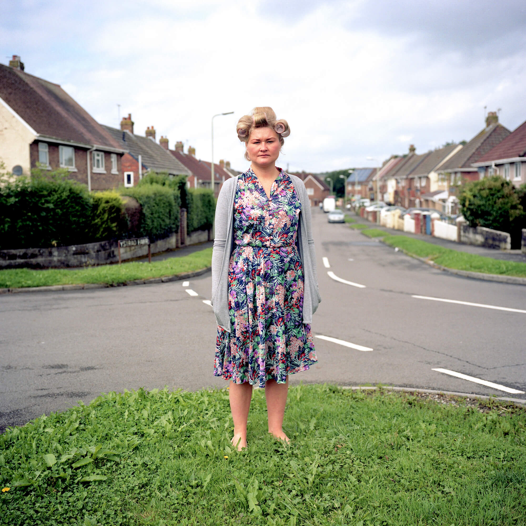 Book Review - Dan Wood 'Suicide Machine' the south west collective of photography woman stood on street corner